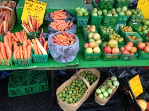 All the colourful vegetables!