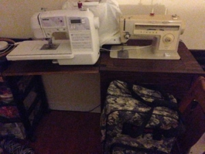 3 sewing machines and a serger... because I have 8 hands.