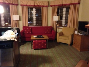 Gorgeous hotel suite at the Marriot