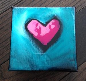 Perfect little pink heart
